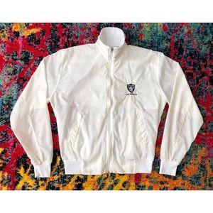 Vintage Los Angeles Raiders White Light Jacket